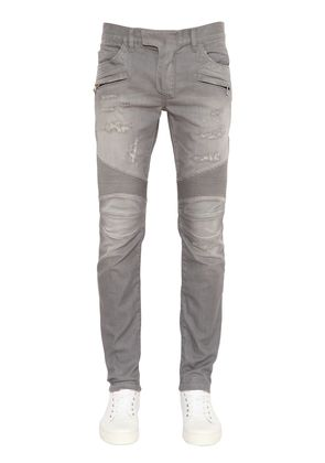 BIKER WASHED DENIM JEANS