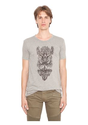TOTEM PRINTED JERSEY COTTON T-SHIRT