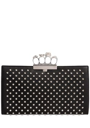 SKULL STUDDED KNUCKLE FLAT POUCH