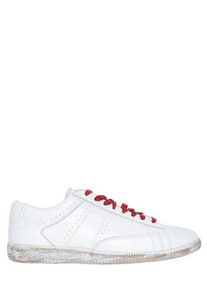 ACE BRUSHED LEATHER SNEAKERS