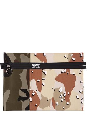 CAMOUFLAGE CANVAS POUCH