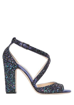 100MM CARRIE GLITTERED SANDALS