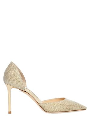 85MM ESTHER GLITTER FABRIC D'ORSAY PUMPS