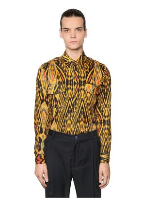 PSYCHEDELIC PRINT WASHED COTTON SHIRT