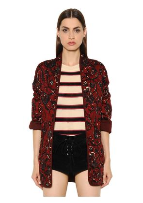 QUILTED PRINTED BRUSHED COTTON JACKET