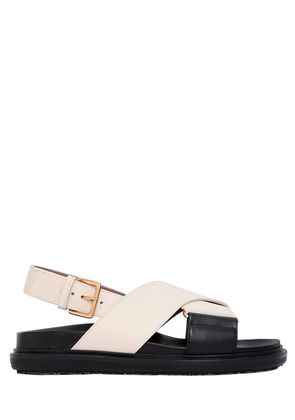 30MM CRISSCROSSING LEATHER SANDALS