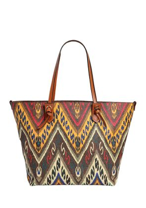 PAISLEY PRINT COATED CANVAS TOTE BAG