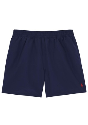 Hawaiian navy swim shorts