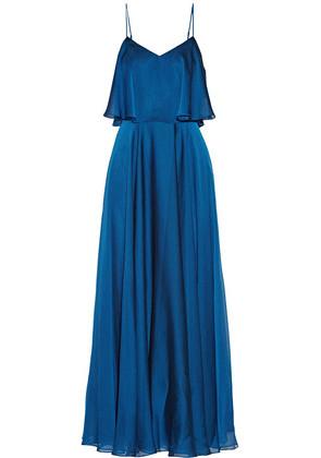 'Halston Heritage - Layered Chiffon Gown - Blue'