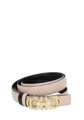 20MM REVERSIBLE SAFFIANO LEATHER BELT