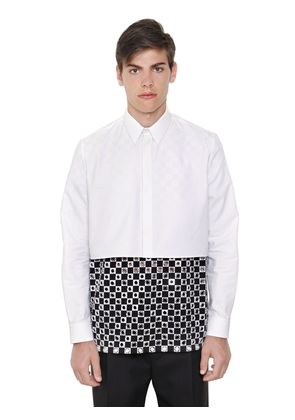 CROPPED COTTON OXFORD SHIRT
