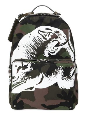 PANTHER PRINTED CAMO CANVAS BACKPACK