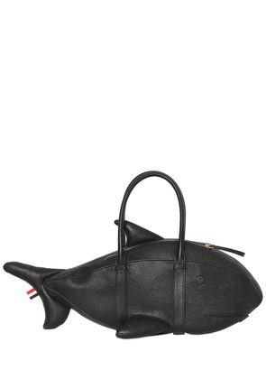 PEBBLED LEATHER SHARK BAG