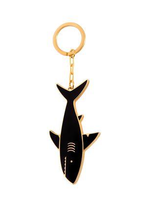 SHARK BRASS KEY RING