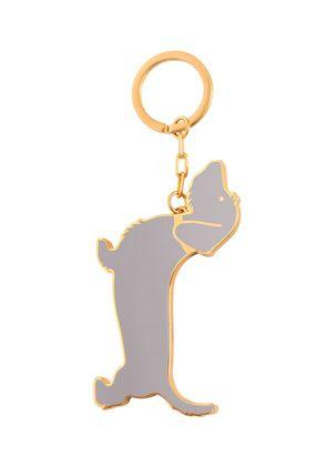 HECTOR DOG BRASS KEY RING