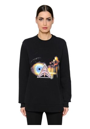 SURREAL PRINTED COTTON JERSEY SWEATSHIRT