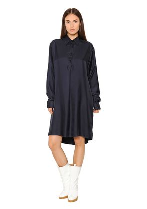 OVERSIZED SILK TWILL SHIRT DRESS