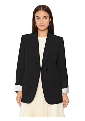 SINGLE BREASTED COOL WOOL JACKET