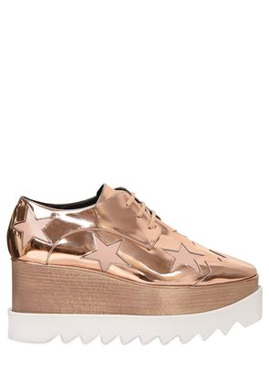 75MM ELYSE FAUX METALLIC LEATHER WEDGES