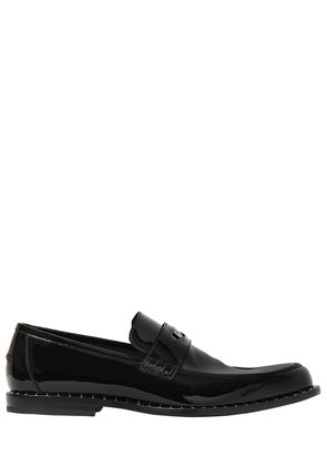 PATENT LEATHER PENNY LOAFERS W/ STUDS