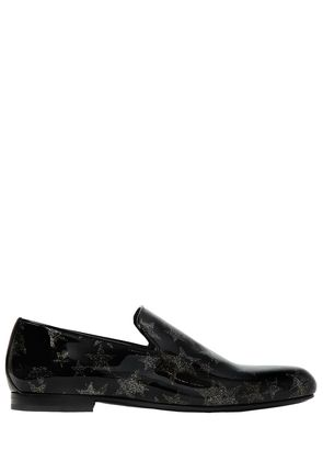 GLITTER STAR PATENT LEATHER LOAFERS