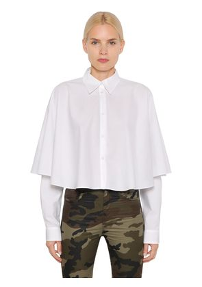 PARACHUTE COTTON POPLIN CAPE SHIRT