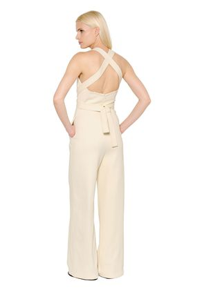 CROSSED BACK STRETCH JUMPSUIT