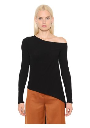RIBBED COTTON JERSEY T-SHIRT