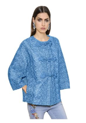 EMBROIDERED DOUBLE LACE JACKET