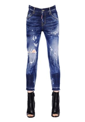 COOL GIRL CROPPED STRETCH DENIM JEANS