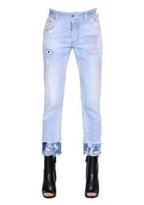 BOYFRIEND STRETCH COTTON DENIM JEANS
