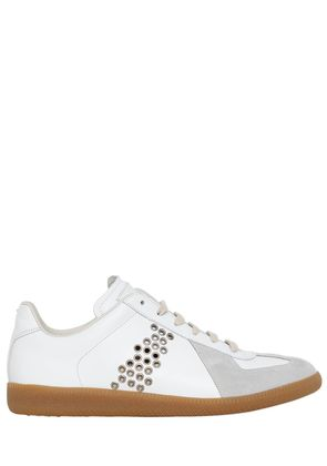 REPLICA EYELETS LEATHER & SUEDE SNEAKERS
