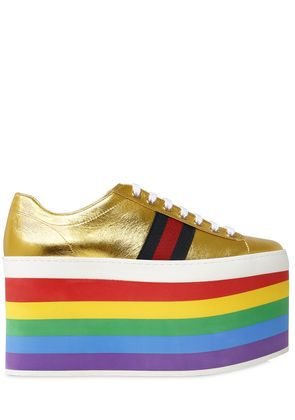140MM PEGGY METALLIC LEATHER SNEAKERS