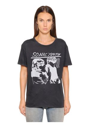 SONIC YOUTH PRINTED JERSEY T-SHIRT
