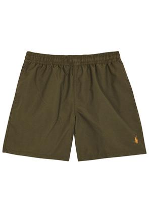 Hawaiian olive swim shorts