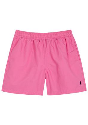 Hawaiian pink swim shorts