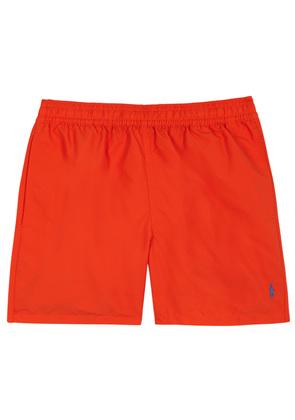 Hawaiian orange swim shorts