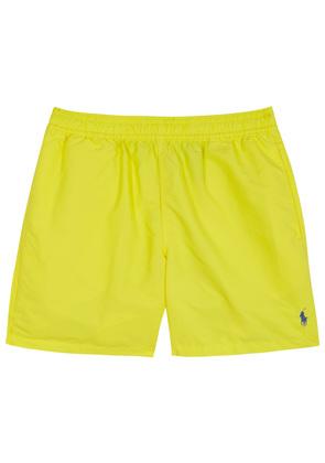 Hawaiian yellow swim shorts