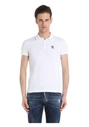 CIRO COTTON COTTON PIQUE POLO SHIRT