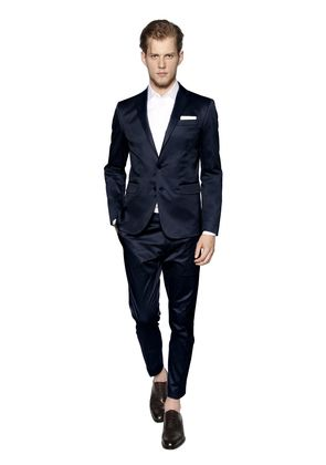 STRETCH COTTON GABARDINE PARIS SUIT
