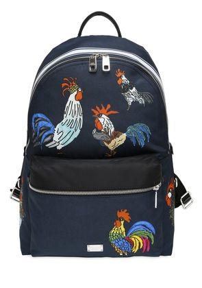 ROOSTER PRINTED NYLON BACKPACK