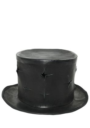 CROSS CUTS LEATHER TOP HAT