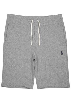 Grey cotton blend shorts