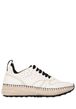 30MM TUMBLED LEATHER & MESH SNEAKERS