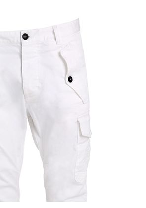 STRETCH COTTON TWILL CARGO PANTS