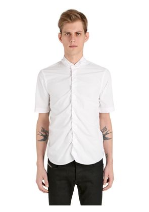 WASHED TECHNO COTTON POPLIN SHIRT