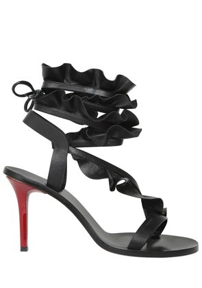 85MM ANSEL RUFFLED LEATHER SANDALS