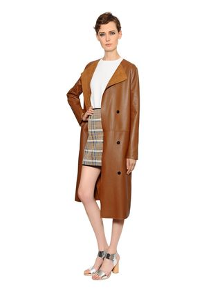 REVERSIBLE SUEDE & NAPPA LEATHER COAT