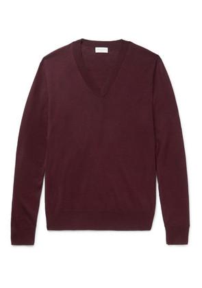 Dries Van Noten - Cotton Sweater - Burgundy