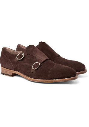 Paul Smith - Atkins Suede Monk-strap Shoes - Brown